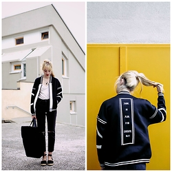 Typhaine - Subdued Jeans, Sixth June Jacket, Highlight Bag, Asos Shoes - THINK PLAN EXECUTE