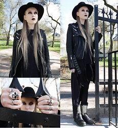 Mona&Linda Pedersen - Jofama By Kenza Leather Jacket, Ash Footwear Boots, Laird Hatters Hat - Today we're wicked