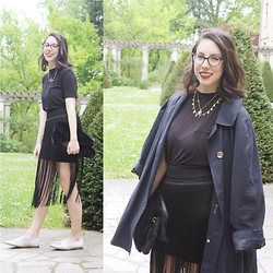 Lauriane - Primark T Shirt, H&M Skirt, New Look Shoes - Fringes...