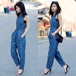 Claire Liu - Gap Denim Jumpsuit - Denim Jumpsuit