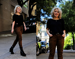 Allison K - H&M Black Knit, Nasty Gal Leopard Pants, Orelia Jewelry - Moments