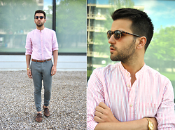 Marc Galobardes - H&M Shirt, Forever 21 Trousers, H&M Shoes - PINK & GREY