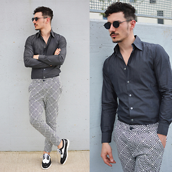 Alessio Convito - Swear Shoes, Zara Pants, Giant Vintage Sunnies - Tomorrow