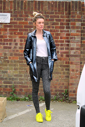 Roxanne Rokii - Ragged Priest Hologram Midnight Jacket 04.2015, New Look White Studded Top 2014, Motel Star Print Jeans 05.2015, Adidas Originals X Pharrell, Younique 3d Fiber Lashes Award Winning Mascara - 08.05.2015 - Pharrell Williams for Adidas