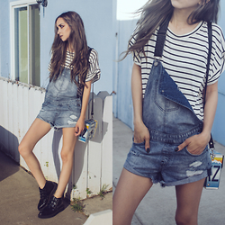 Linabugz . - Pylo Monday T Dress, Volcom Stoned Shortalls - Cast Your Stones