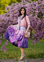 Viktoriya Sener - M&S Sweater, Sheinside Blouse, Chicwish Midi Skirt, River Island Bag, Missguided Sandals - Endless Lavender