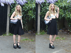 Laura Rogan - Missguided Top, Whistles Bag, New Look Culottes, River Island Shoes, Smashglam Necklace - The wind cries Mary