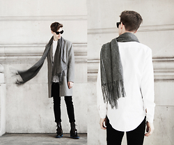 Mikko Puttonen - Balmuir Scarf, Acne Studios Shades, Cos Shirt, Acne Studios Jeans, Guidomaggi Shoes - Within and without