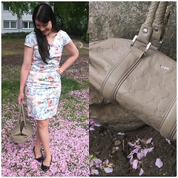 Caliope - Joop Bag, Mint&Berry Dress, Bloch Ballerina Flats - Cornflower Bag