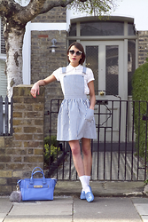 Ella Catliff - Related Apparel Pinafore, French Connection Uk Shirt, Kate Spade Glasses, Tods Loafers, Coach Bag - Child's Play