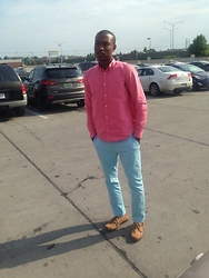 Tommy Jolly - Cam Newton Light Blue Pants, J Crew Plaid - THATS ALL DAY