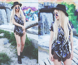 Krist Elle - Ashanti Brazil Playsuit, Blackfive Triangle Sunglasses Black Five - ASHANTI BRAZIL