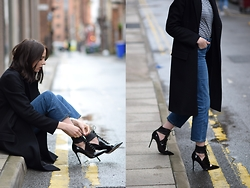 Lizzy Hadfield - Weekday Jeans, Gianvito Rossi Heels - Jeans and a Tee