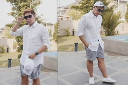 Seff Francisco - Uniqlo Linen, Bench Tm Shorts, Recklessfew Ph Cap, Sprinto Harlem - White is Right