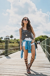 Daniela Ramirez - Guess Shorts, Abercrombie Shirt, Forever 21 Top - Fountain of Youth- St. Augustine!