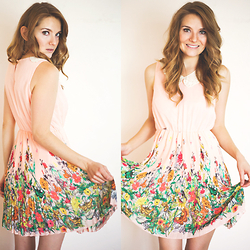 Lauren G - Sherry Lou Studio Pink Dress - Blossoming