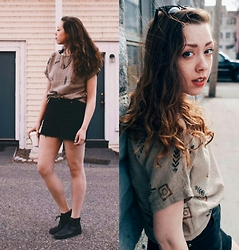 Hannah J - Thrifted Shirt, Thrifted Boots, Earthbound V Necklace - A place that i've been dreaming of