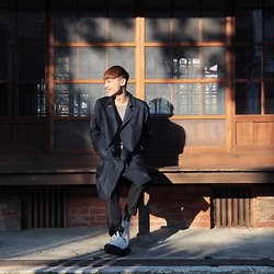 Kaiyo Chang - Burberry Coat, All Saints Knitewear, Comme Des Garçons Trousers, Rick Owens Shoes - Hello Mr. Spring