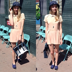 Noir Girl - Tiffany & Co. Whistle, Chanel Flats, Obey Bucket Hat, 3.1 Phillip Lim - Feeling peachy