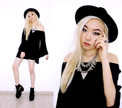 Kicki Yang Zhang - H&M Hat, Gypsy Warrior Dress, Asos Shoes, Happiness Boutique Necklace, Quanticlo Septum - Silver