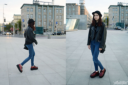 Ola Brzeska - Demonia Creepers, New Yorker High Waist Jeans, Terranova Hat - Outfit with Demonia creepers