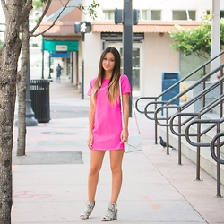 Macarena Ferreira - Lulu's Dresa, Missguided Booties, Kate Spade Bag - Little Pink Dress.