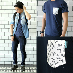 Nick Ronquillo - Good Guys Clothing Pocket Tee - Summer Class