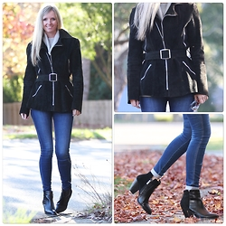 Bianca - Vintage, Lee Skinny, Sachi Leather Boots - Autumn style