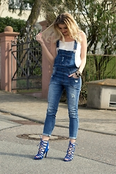 Femme Noble - Zara Sandaletten, Review Dungaree, Mango Top - #Dungareelove ♥