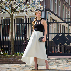 Lara Rose Roskam - Supertrash Maxi Skirt, Louboutin So Kate Heels - BLOSSOM WHITE