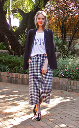Nikki S - Queen Shop Culottes, Queenshop Pants - {18.5.15} Checkered Culottes and Wintour Blues