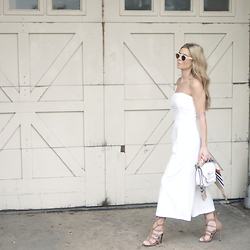 The Pearl Oyster - Asos Jumpsuit, Nasty Gal Gladiators, Mackage Bag - Warehouse