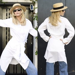 Emma Easton - Asos Jean Flare, Brooks Brothers Chemise Blanche - WHITE SHIRT + WHITE SHIRT PART 2/2