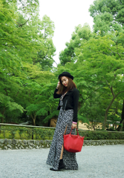 Jill Maria Medina - H&M Maxi Dress, Long Champ Planetes - Kinkakuji