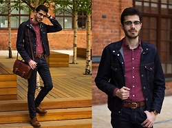 Artem Arutyunov - Levi's® Denim Jacket, Massimo Dutti Shirt, Massimo Dutti Belt, Tommy Hilfiger Watch, Levi's® Jeans, Ray Ban Glasses, Gerard Henon Bag, Loake Brogue - Spring in Moscow Pt.2