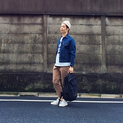 YUTO OMAE - Levi's® Outer, Adidas Stansmith - 20150521