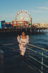 Lee Catherine - Top, H&M Fringe Jacket, American Apparel Skirt, Unif Hella Jellys - CRAVING YOUTH