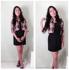 Mena Dolma - H&M Cropped Shirt, Forever 21 Skirt - Love Plaids