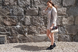 Lauren Rose Bell - Zara Dress, Accessorize Bag, Office Boots - The Nude Summer Dress