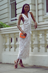 Natasha N - Rose Gold Maxi Dress, Primark Sandals - Jetset