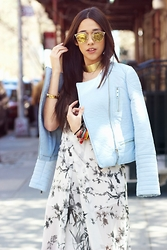 The Pecking Order - Forever 21 Leather Jacket, Christian Dior Sunglasses, Nasty Gal Choker - Let's Welcome Spring In The City
