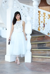 Olivia Yuen - The Shopping Bag Top, The Shopping Bag Necklace, Bcbgeneration Skirt, Zara Clutch, Asos Shoes - Graceful Presence