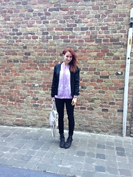 Bieke De Deyne - Vintage Sweater, Vero Moda Jacket, Pieces Pants, New Look Boots - This time we can't go wrong