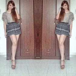 Jessica Padua - Zara Shoes, Forever 21 Skirt - Lace and Prints