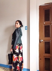 Yoh Yamamoto - Springfield Leather Jacket, Givenchy Bag - Leather x Floral