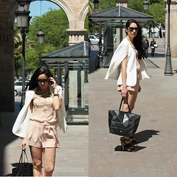 I Señorita - Purificacion Garcia Leather Bag, Zara Jacket Cape, Topshop Heels, Bvlgari Sunnies - Chasing creativity