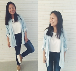 Manisha C.O - Zara Oversized Shirt - All blue