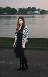 Kyla Curtis - Alternative Flannel, H&M Dress, Givenchy Rain Boots - Rainy Day