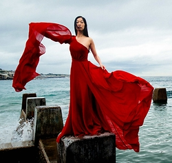 Cissy Zhang - Fame And Partners Red Maxi Dress - Red storm