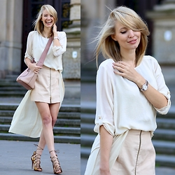 Leonie Hanne - Chloé Bag, Blouse, Heels, Skirt, Dress, Carl F. Bucherer - Soft shades | ohhcouture.com